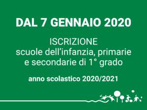 Iscrizioni scolastiche a.s. 2020/2021