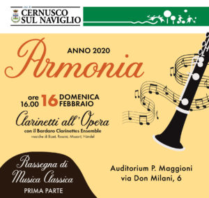 Armonia 2020 – Clarinetti all'Opera