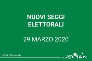 Nuovi seggi elettorali dal 29 marzo 2020