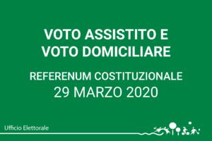 Voto assistito e voto domiciliare – Referendum costituzionale 2020