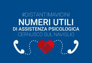 #distantimavicini – Numeri di assistenza psicologica