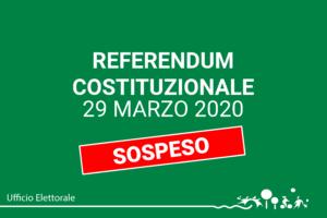 Sospensione referendum 29 marzo 2020