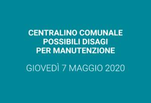 Centralino comunale – manutenzione programmata