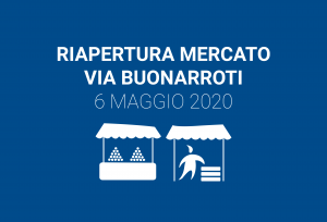 Riapertura mercato di via Buonarroti da mercoledì 6 maggio 2020